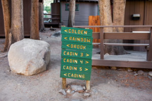 Bishop Creek Lodge & Resort direction signs