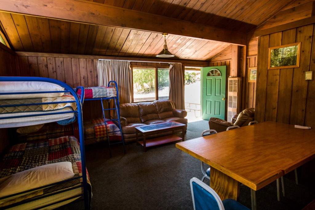 Rainbow Cabin main room