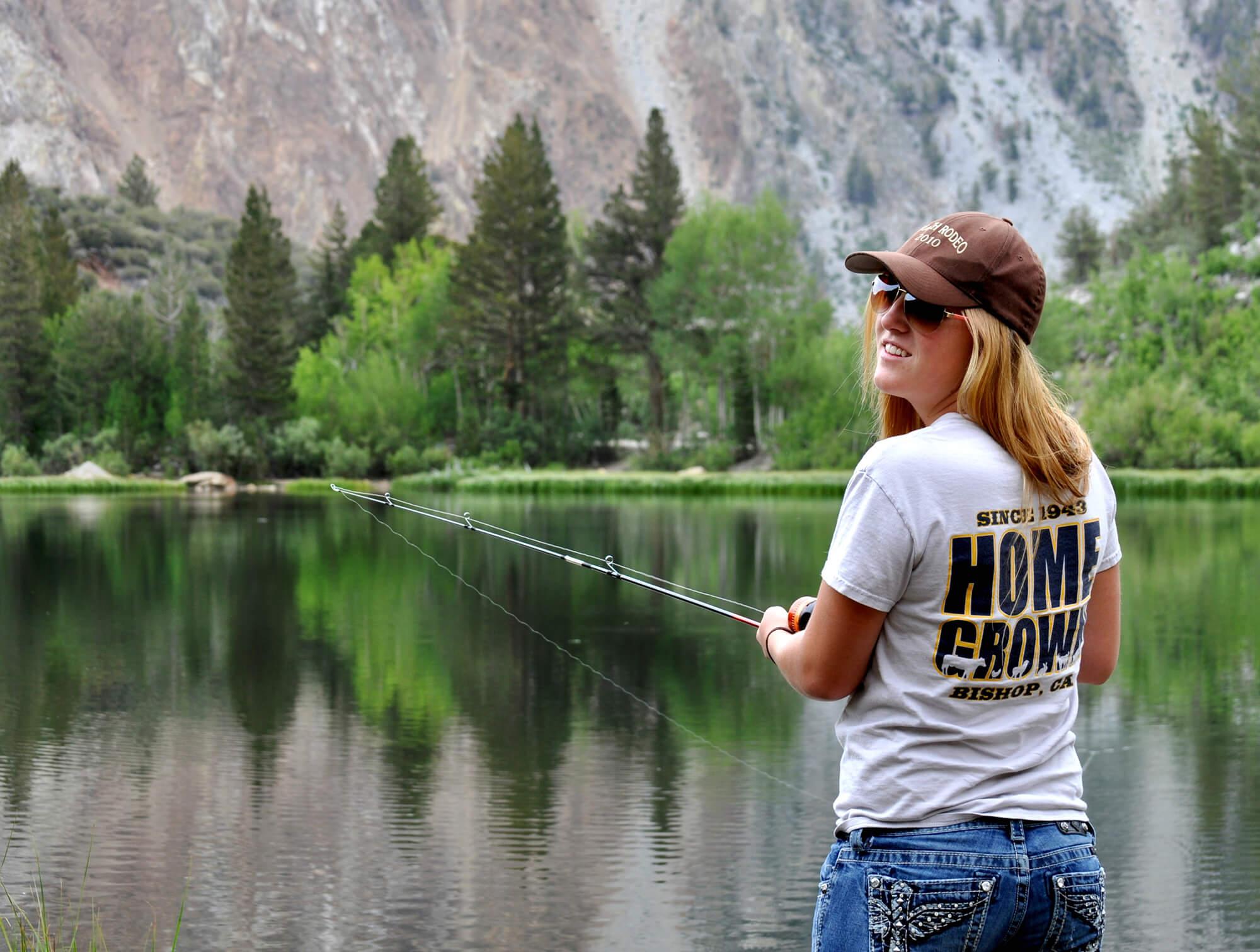 Woman Fishing South Lake California